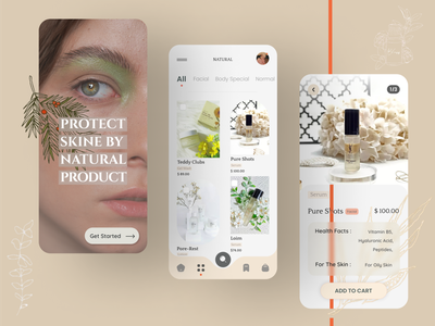 SKIN CARE PRODUCT/ APP shot instagram application dribbble userexperience userinterface productdesigner uiux `product appdesign graphic design uidesign app uitrend ecommercestore ecommerceshop ecommerce skin care ux ui