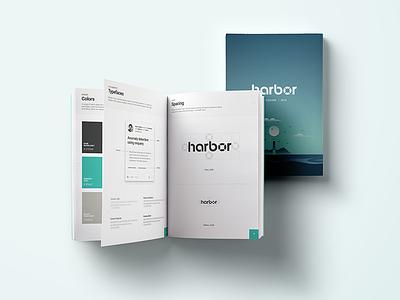 Harbor Brand Styleguide facebook nautical harbor styleguide illustration logo brand branding