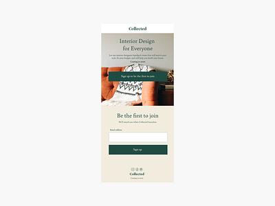 Mobile Landing Page for Interior Design Website interior design landing page landing email capture