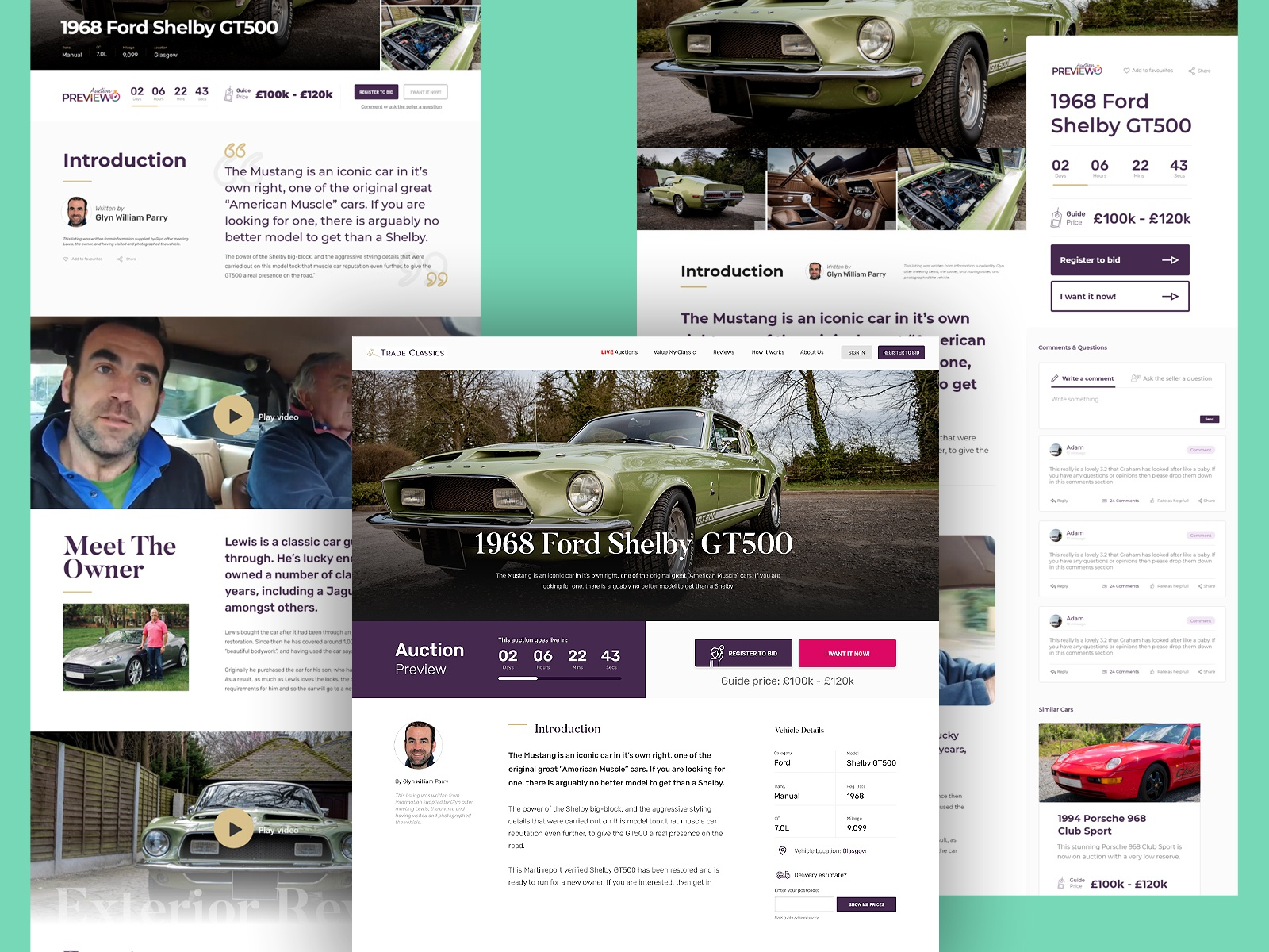 Classic Car Auction Ui Ux By Stevie Reeves On Dribbble