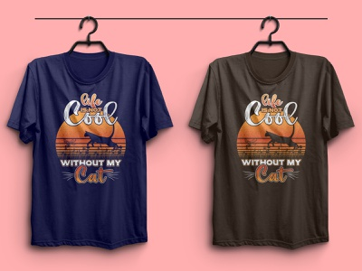 Cat Lover T-shirt Design t-shirt design