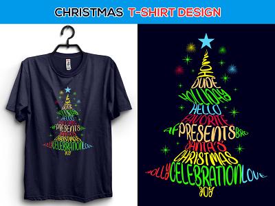 Christmas T-shirt Design graphic design apparel