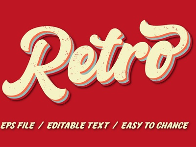 Retro text effect for t-shirt logo illustration design typography t-shirt design fashion fashion design typography t-shirt t-shirt design t-shirts graphic design retro logo t-shirt logo maker logo 70s design 70s 3d text effect 3d retro text effect vintage retro