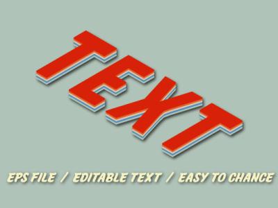 3d 70s retro text for t-shirt logo design pop