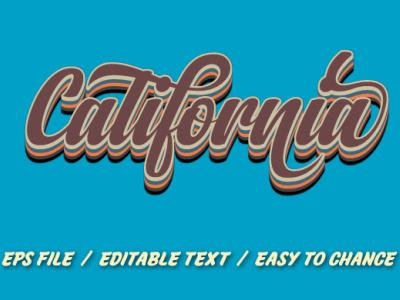 Retro text effect for t-shirt logo design pop