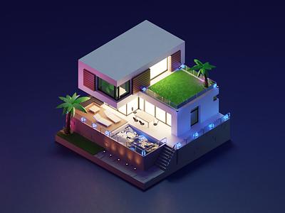 Hotel 3d model logo motion graphics graphic design animation 3d