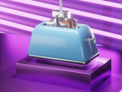 toaster 3d models logo motion graphics graphic design animation 3d