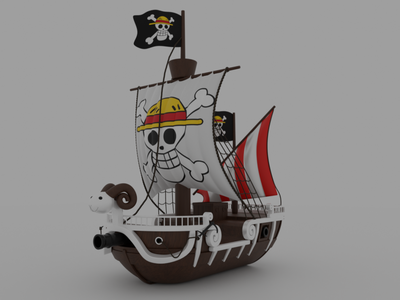 one piece ship 3d models motion graphics graphic design 3d animation