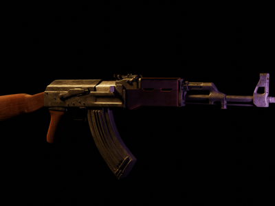 Ak-47 weapon 3d models logo motion graphics graphic design animation 3d