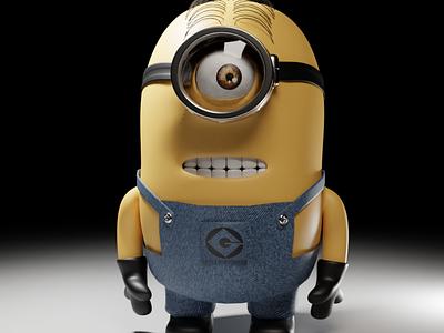 Minions 3d models ui illustration design vector branding logo motion graphics graphic design 3d animation
