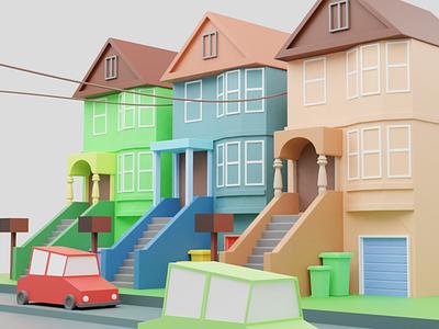 City lowpoly 3d models illustration design vector branding logo motion graphics graphic design 3d animation