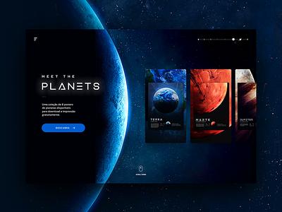 #MeetThePlanets UI space shot onepager concept ux