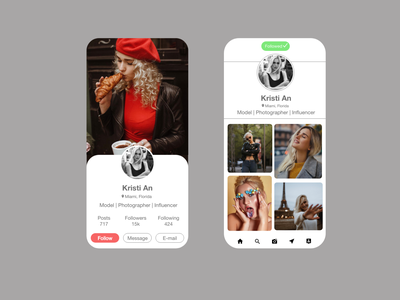 User Profile ux typography illustration icon ui design app