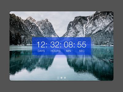 Countdown Timer app typography ux illustration ui design