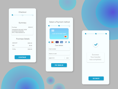Credit Card Checkout app typography ux illustration ui design