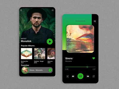 Music Player app ux ui design