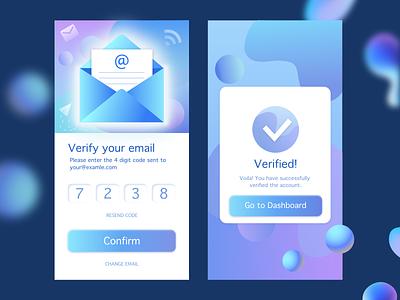 Confirmation vector app ux ui design