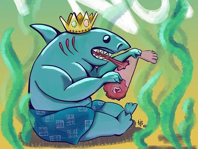 king shark the suicide squad nom nom shark fanart movie dc comics king shark color digital illustration graphic design