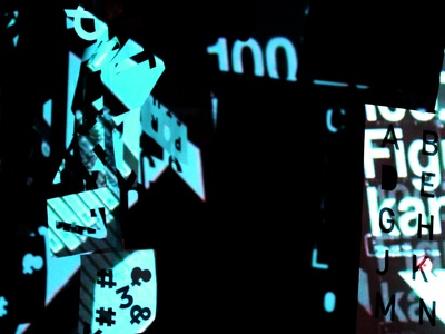 Series, Kinetic Typography. Projections on 3D Surface. 2015.
