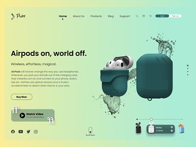 Airpods App Design productdesign webdesign branding design earpods earpodsapp airpods airpodsapp appdesign ux ui webdsign
