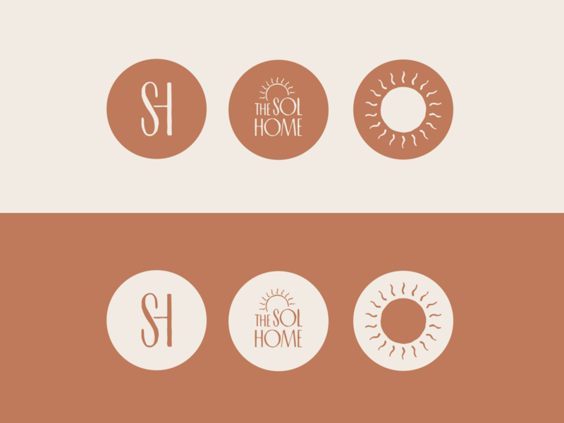 The Sol Home monogram illustration logo design airbnb atlanta