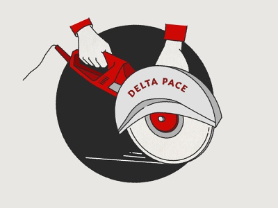 Delta Pace construction branding logo hand drawn icon illustration
