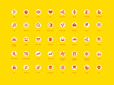 Icon direction for Bright Starts, baby toy brand