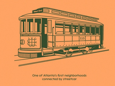 SW.ATL.GA  (WIP) atlanta streetcar train illustration branding design swatl swatlga