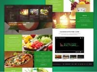 Nutrition Website Homepage Design