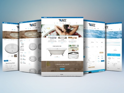 Website Redesign for Tubs Client ecommerce design web design website redesign ecommerce tubs