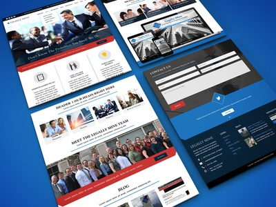 Homepage Design for Asset Client graphic design web design legal website homepage