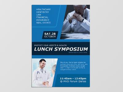 Print Flyer Design lunch symposium flyer design graphic design event flyer print design flyer