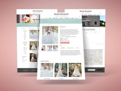 Website Design for Wedding Dress Designer contact us product details product directory wedding website web design graphic design ecommerce wedding