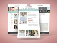 Website Design for Wedding Dress Designer