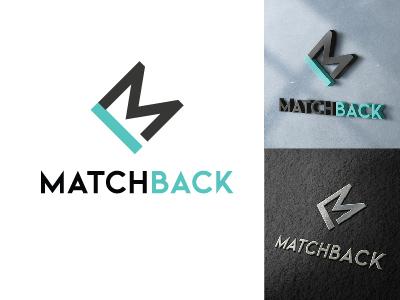 Matchback Logo Design bm monogram bm b logo m logo logo design match matchmaking branding monogram logo turquoise