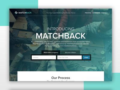 MatchBack Banner Design web design web banner banner design turquoise website web