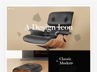 Eames Lounge Chair Landing