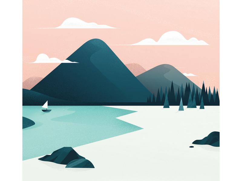 Magic Mountain colors sp product texture gradients vector mountain illustration landscape
