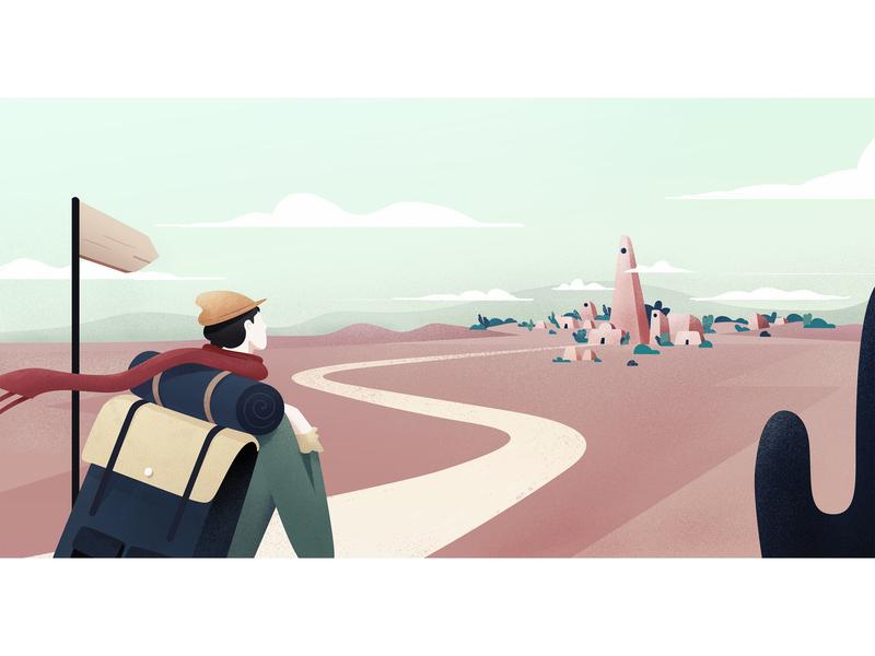 The Adventurer design product brazil ui texture colors vector illustration