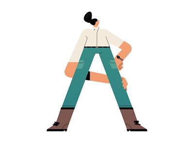 A for Adventure editorial texture vector sp ui design colors brazil illustration