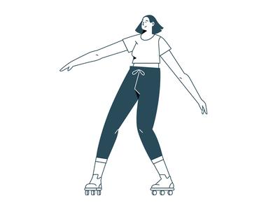 Roller Skating product shapes line colors texture vector brazil art direction illustration roller skates