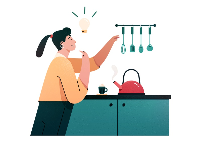 Cooking Prep ui product design app cooking brand design textures vector brazil illustration character colors