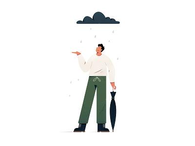 Rain Clouds product design ui editorial texture sp vector brazil colors illustration