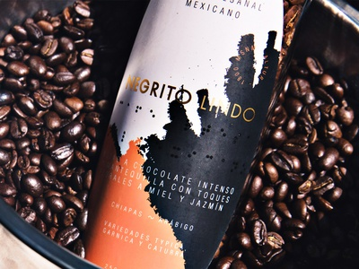 Negrito Lindo design logo label packaging coffee branding packaging