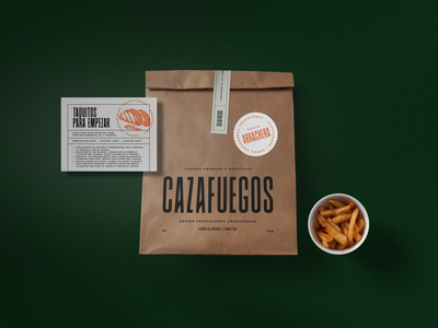 Cazafuegos mexicanfood mexican art beef typography icon branding design packaging label label packaging