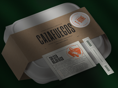 Cazafuegos mexicanfood mexican art beef typography branding design packaging label label packaging