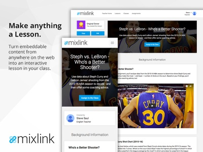 MixLink Lesson: Responsive Layout mixlink responsive ui edtech education technology education