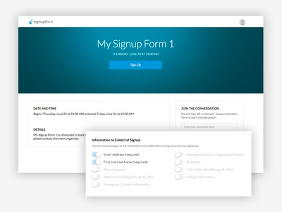 Clean and Simple Signup Page clean ui web design