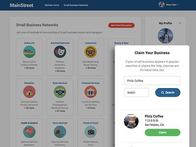 MainStreet App for Small Business (Yelp Hackathon) angular api search ui hackathon yelp