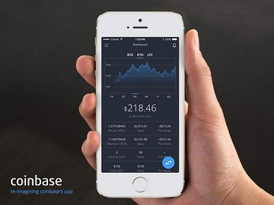 Re-Imagining Coinbase's Mobile App stocks banking ethereum bitcoin fintech coinbase